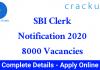 SBI Clerk Notification 2020 PDF