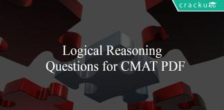 Logical Reasoning Questions for CMAT PDF