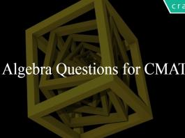 Algebra Questions for CMAT
