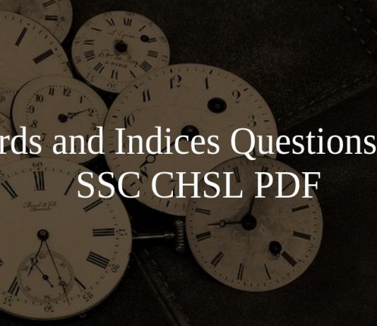 Surds and Indices Questions for SSC CHSL PDF