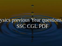 Physics previous Year questions for SSC CGL PDF