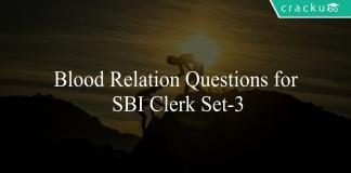 Blood Relation Questions for SBI Clerk Set-3