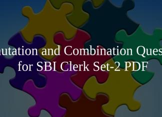 Permutation and Combination Questions for SBI Clerk Set-2 PDF