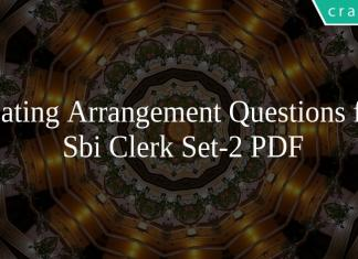 Seating Arrangement Questions for Sbi Clerk Set-2 PDF