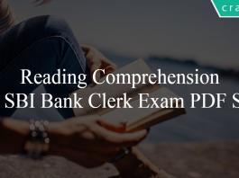 Reading Comprehension for SBI Bank Clerk Exam PDF Set-3