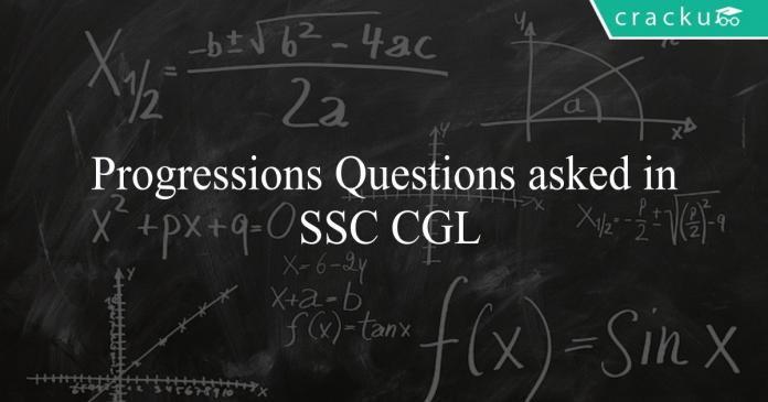 Progressions Questions asked in SSC CGL