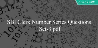 SBI Clerk Number Series Questions Set-3