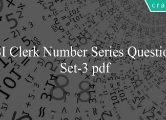 SBI Clerk Number Series Questions Set-3