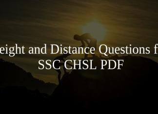 Height and Distance Questions for SSC CHSL PDF