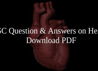 SSC Questions & Answers on Heart PDF
