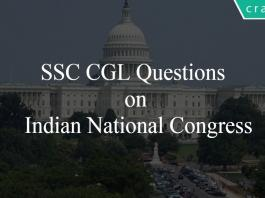 SSC CGL Questions on Indian National Congress