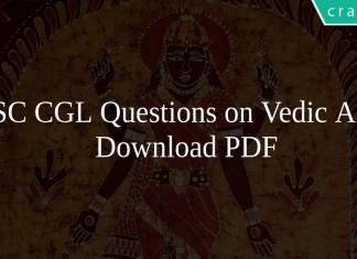 SSC CGL Questions on Vedic Age PDF
