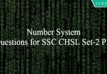 Number System Questions for SSC CHSL Set-2 PDF