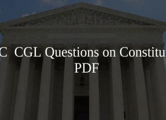 SSC CGL Questions on Constitution PDF