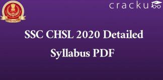 SSC CHSL 2020 Detailed Syllabus