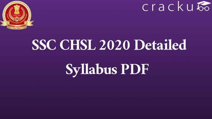 SSC CHSL 2020 Detailed Syllabus