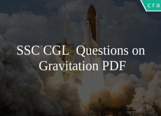 SSC CGL Questions on Gravitation PDF