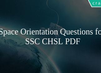Space Orientation Questions for SSC CHSL PDF