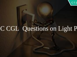 SSC CGL Questions on Light PDF