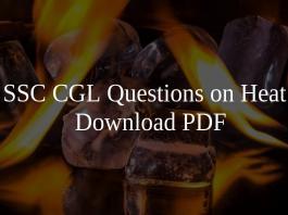 SSC CGL Questions on Heat PDF