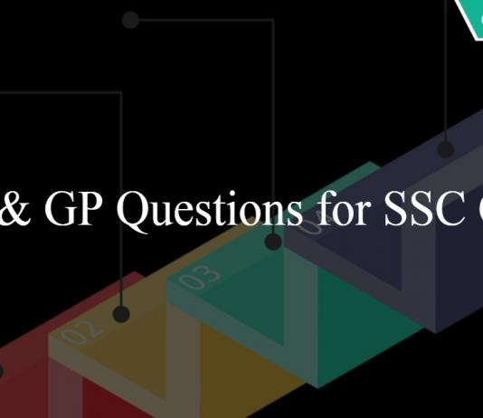 AP GP Questions for SSC CGL