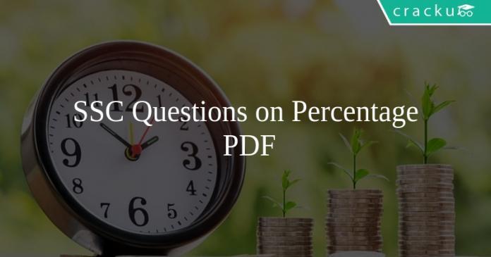 SSC Questions on Percentage PDF