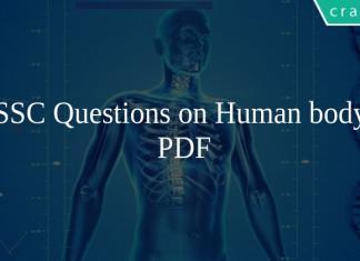 SSC Questions on Human body PDF