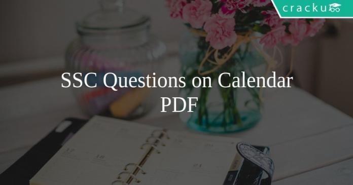 SSC Questions on Calendar PDF