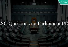 SSC Questions on Parliament PDF