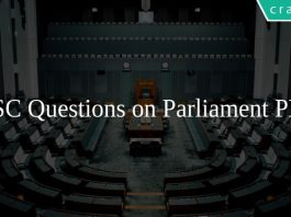 SSC Questions on Parliament PDF