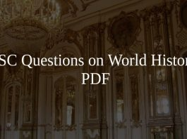 SSC Questions on World History PDF