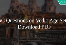 SSC Questions on Vedic Age Set-2 PDF