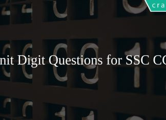 Unit Digit Questions for SSC CGL