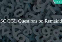 SSC CGL Questions on Remainder