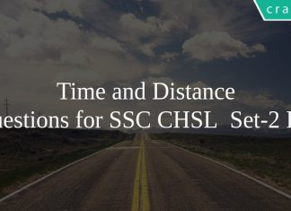 time and distance questions for SSC CHSL Set-2