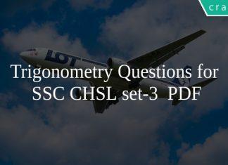 Trigonometry Questions for SSC CHSL set-3 PDF