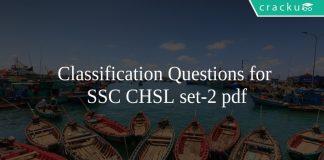 Classification Questions for SSC CHSL set-2 pdf