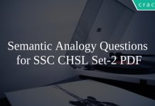Semantic Analogy Questions \nfor SSC CHSL Set-2 PDF