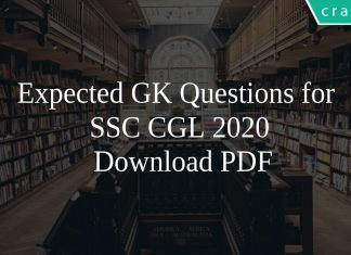 Expected GK Questions for SSC CGL 2020 PDF
