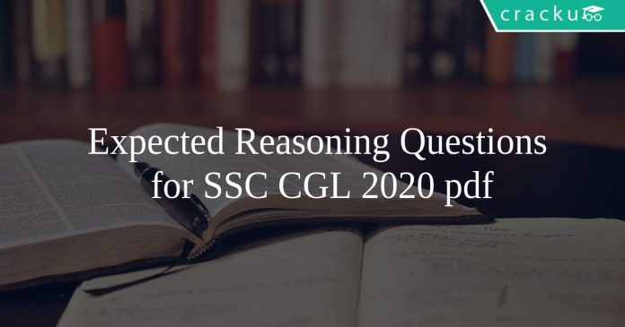 Expected Reasoning Questions for SSC CGL 2020 pdf