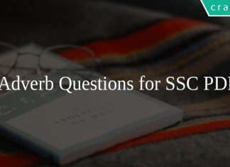Adverb Questions for SSC PDF
