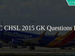 SSC CHSL 2015 GK Questions PDF
