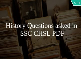 History Questions asked in SSC CHSL PDF
