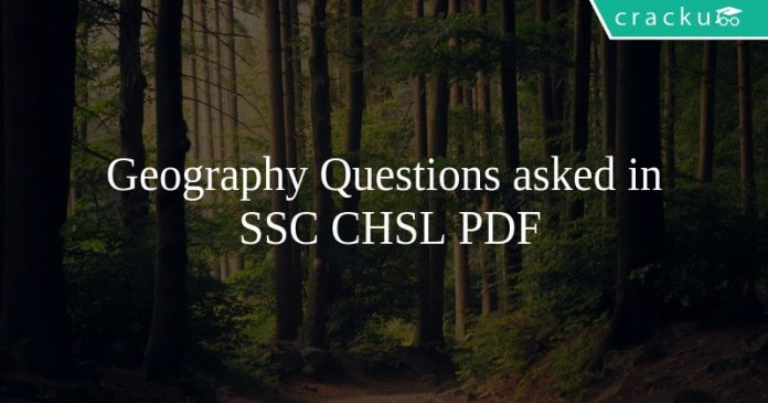 Geography Questions asked in SSC CHSL PDF