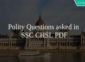 Polity Questions asked in SSC CHSL PDF