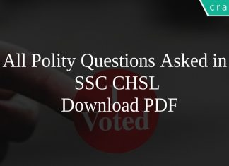 All Polity Questions Asked in SSC CHSL PDF