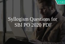 Syllogism Questions for SBI PO 2020 PDF