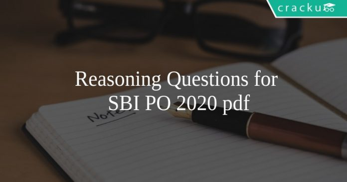 Reasoning Questions for SBI PO 2020 pdf