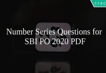 Number Series Questions for SBI PO 2020 PDF