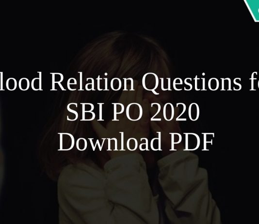 Blood Relation Questions for SBI PO 2020 PDF